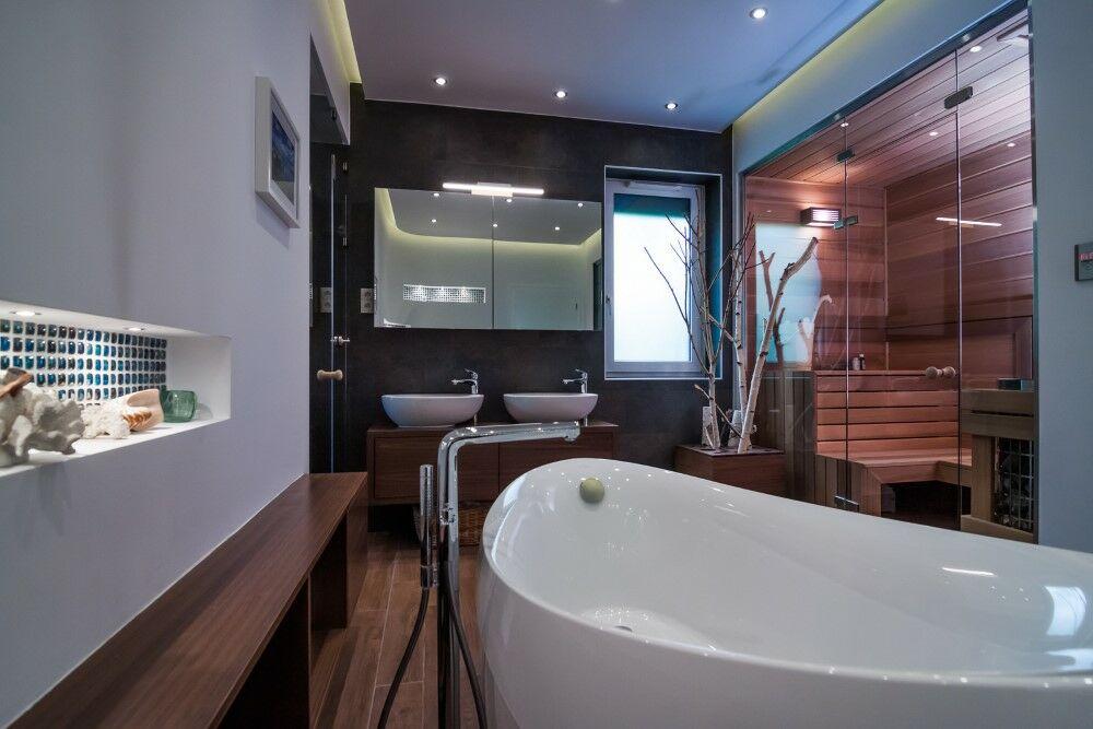 Modern fürdőszoba helyes megvilágítása