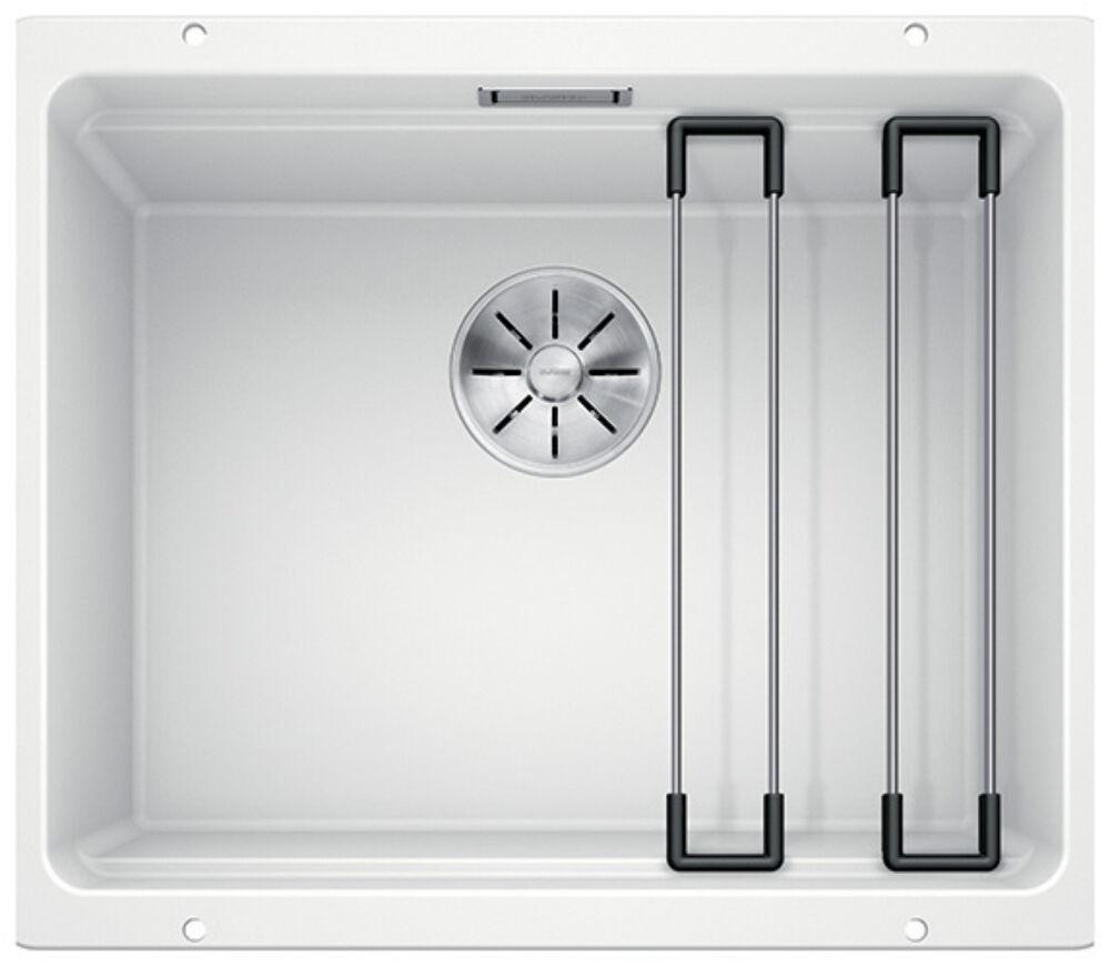 ETAGON 500-U  mosogatótálca, 1 medence, 2db többfunkciós sín tarztozékkal, fehér, gránit