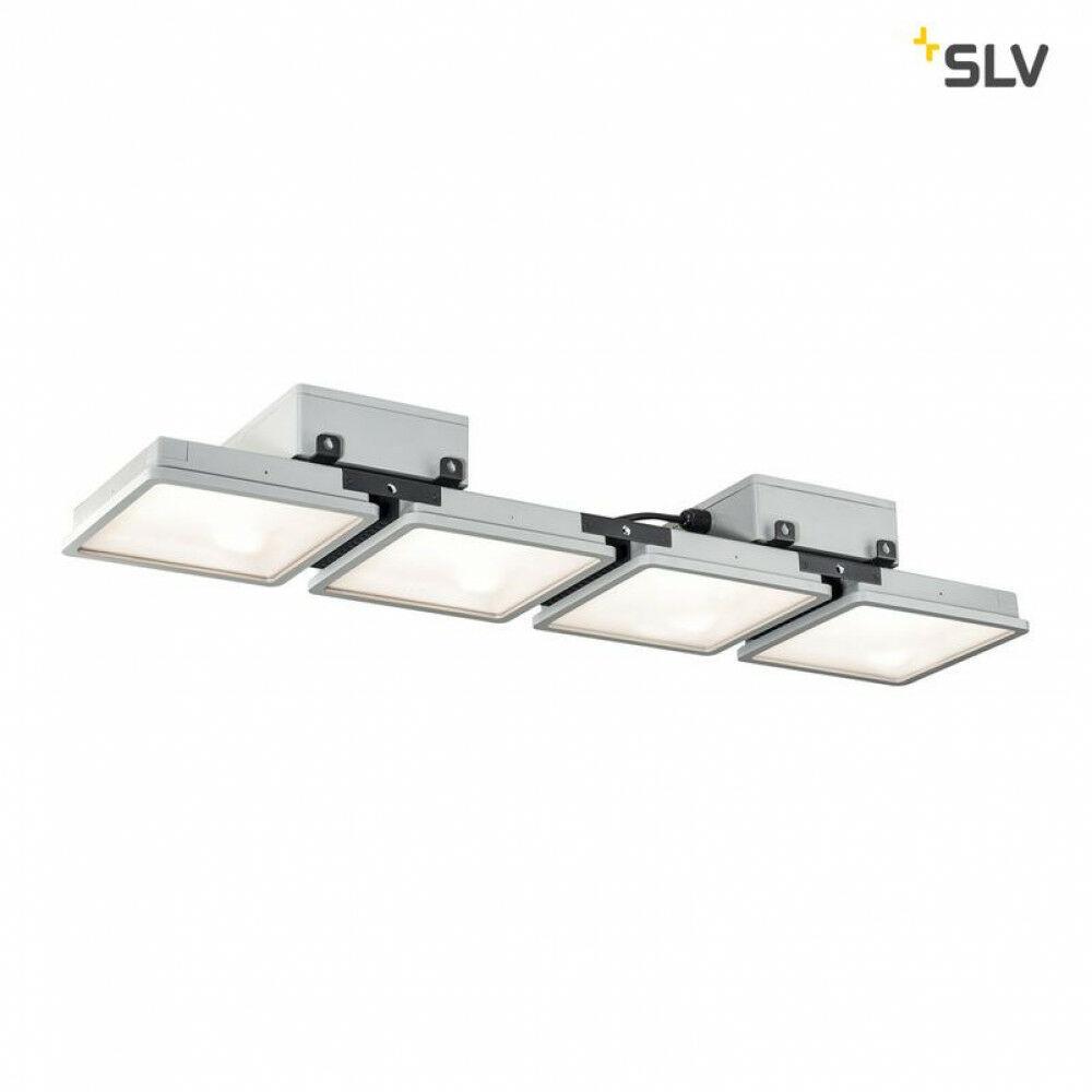 ALMINO szürke LED 4 részes függeszték szögletes