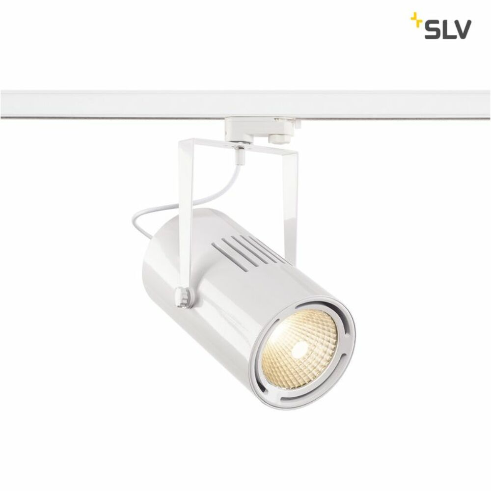 EURO SPOT fehér LED 38° sínes lámpa 3-fázisú hálózati sínrendszer csatlakozóval