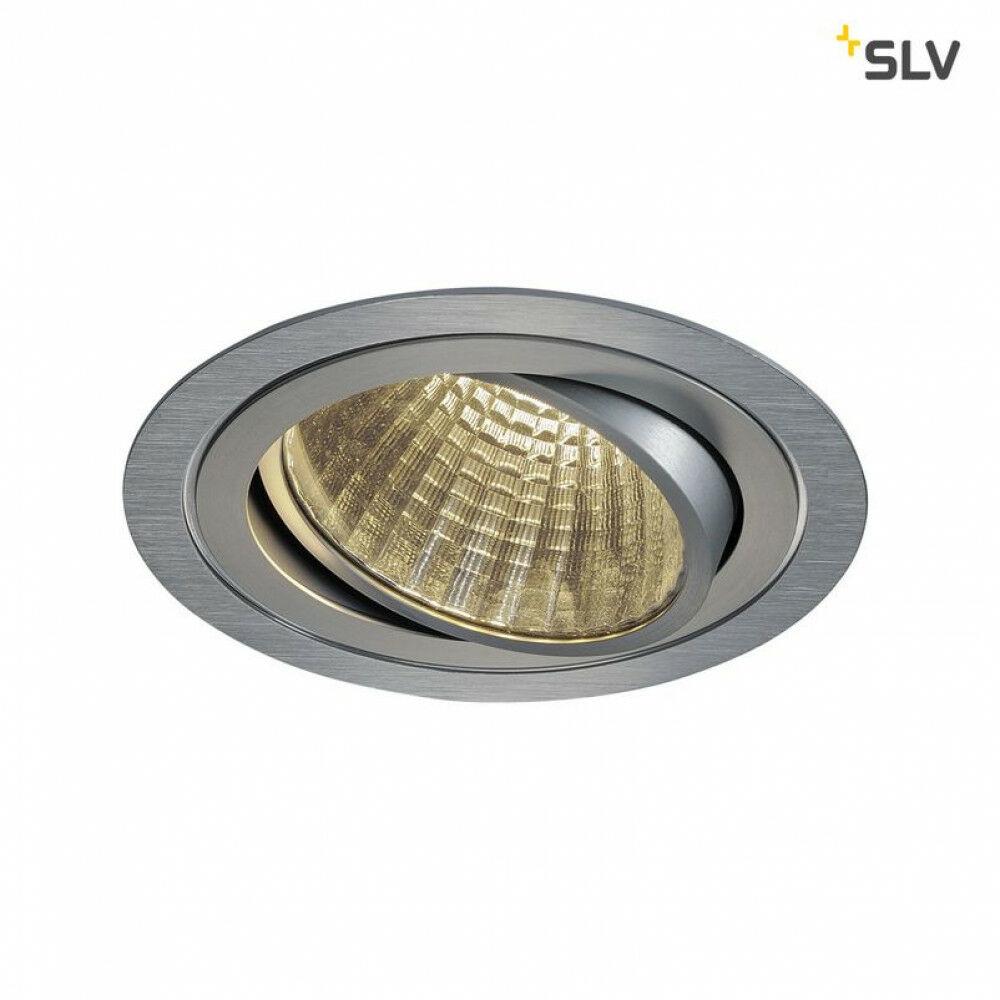 NEW TRIA 1 R 150 szálcsiszolt alumínium LED 3000K beépíthető spot lámpa kerek