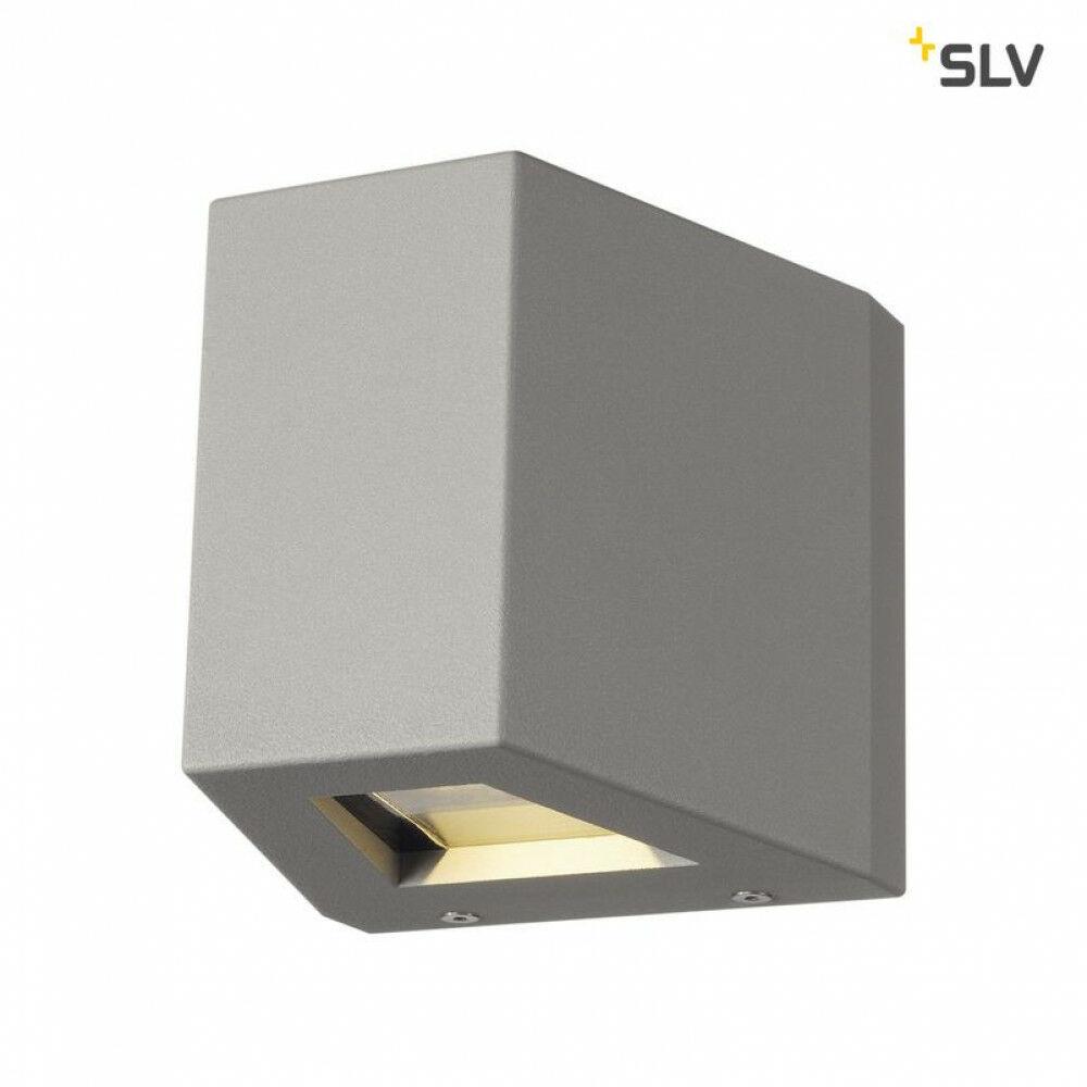 OUT BEAM up-down ezüst QT-DE12 kültéri fali lámpa aszimmetrikus fényeloszlás