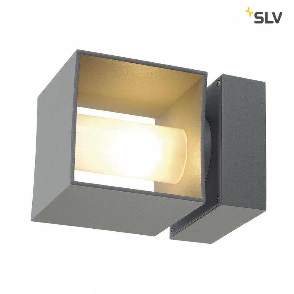 SQUARE TURN ezüst QT14 kültéri fali lámpa