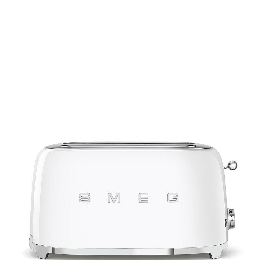 50'S style retro fehér 4 szeletes dupla kenyérpirító