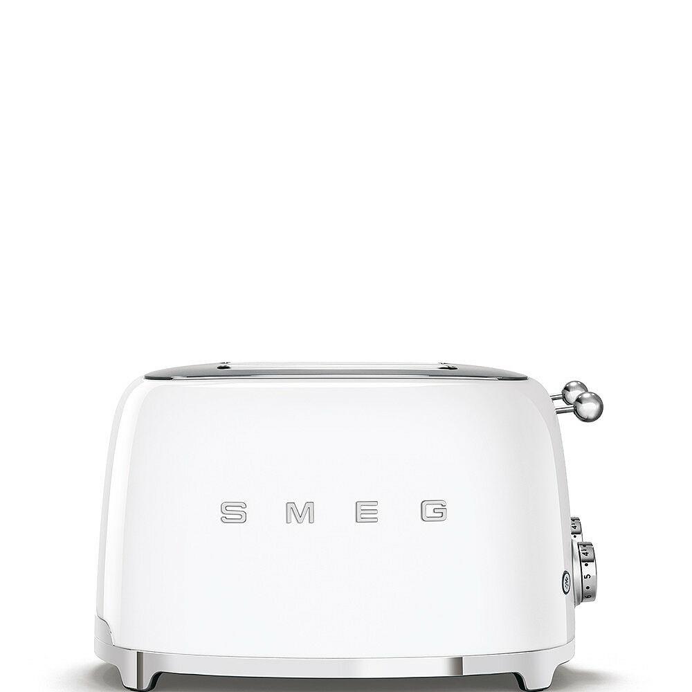 50'S style retro fehér 4 x 1 szeletes kenyérpirító