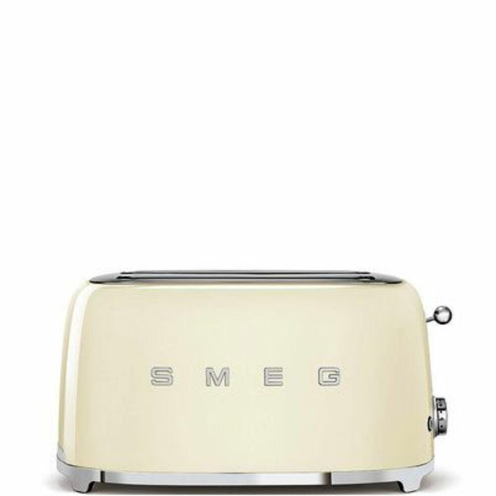 50'S style retro krém 4 szeletes dupla kenyérpirító