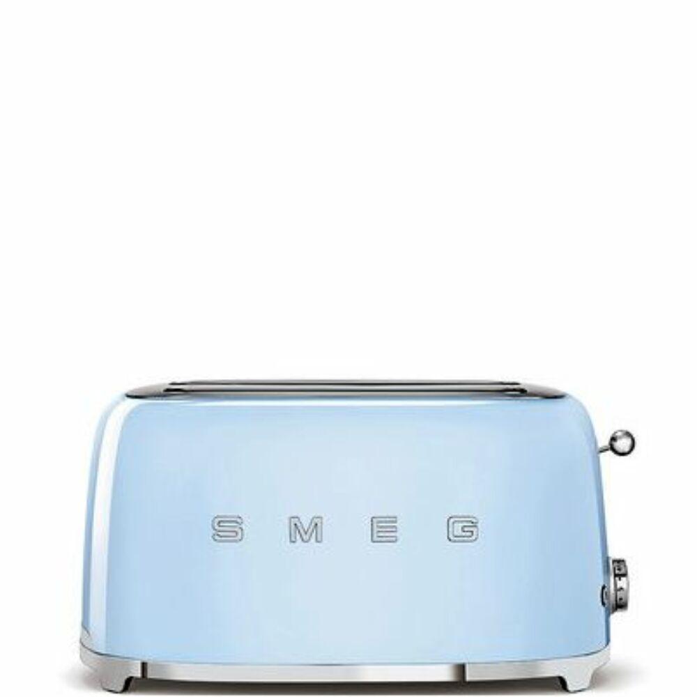 50'S style retro pasztell kék 4 szeletes dupla kenyérpirító