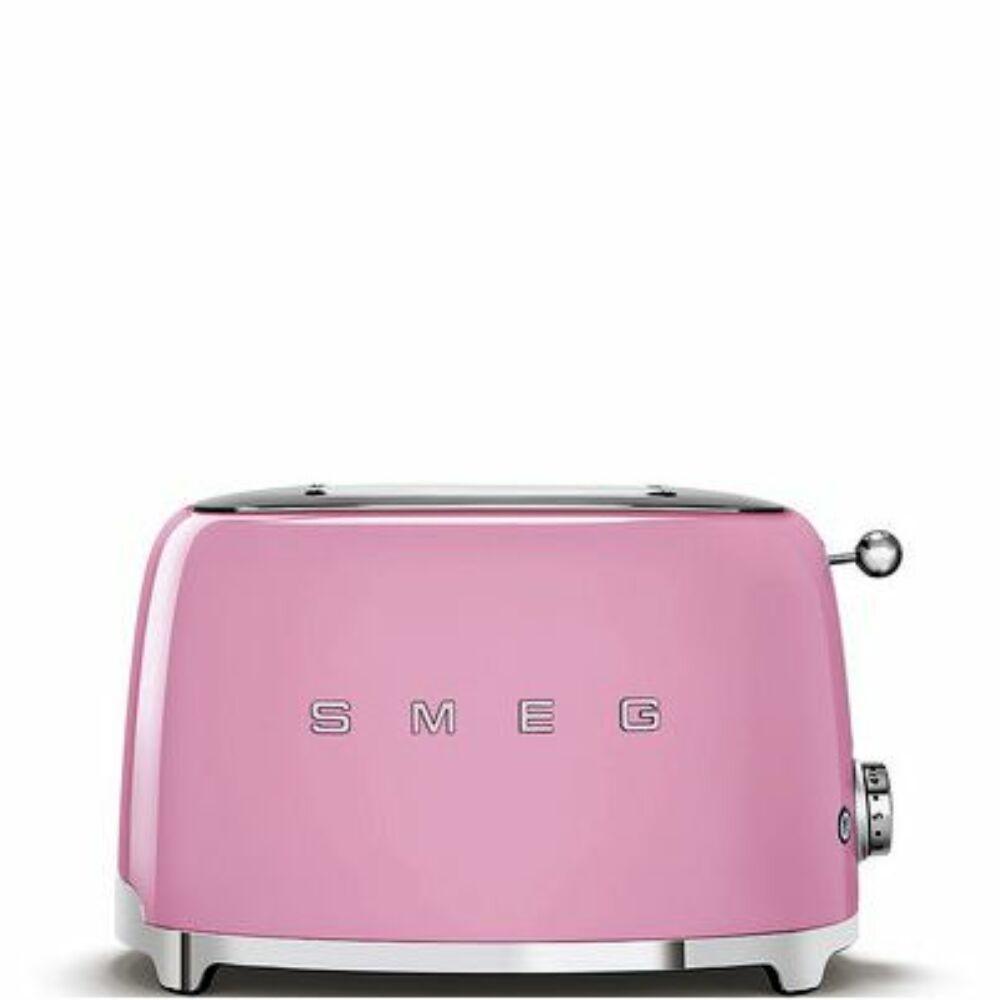 50'S style retro pasztell rózsaszín 2 x 1 szeletes kenyérpirító