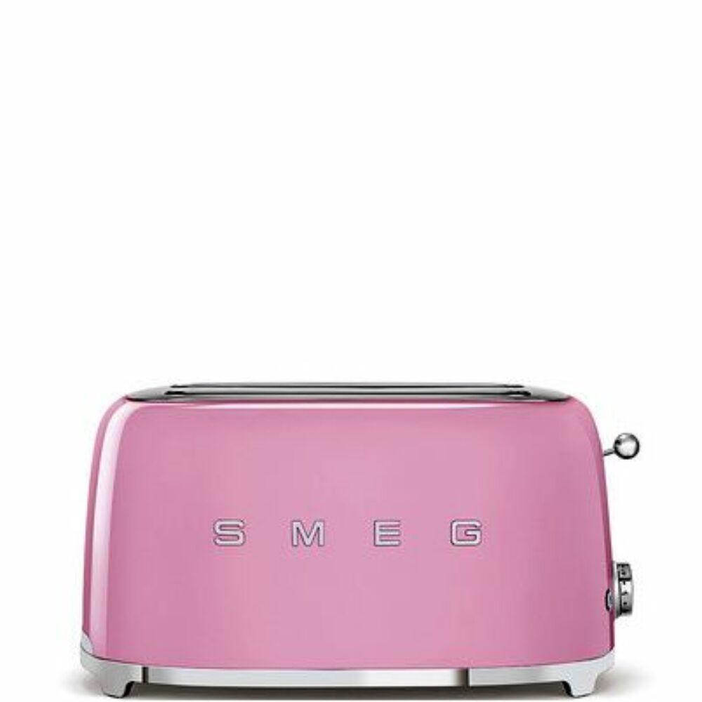 50'S style retro pasztell rózsaszín 4 szeletes dupla kenyérpirító