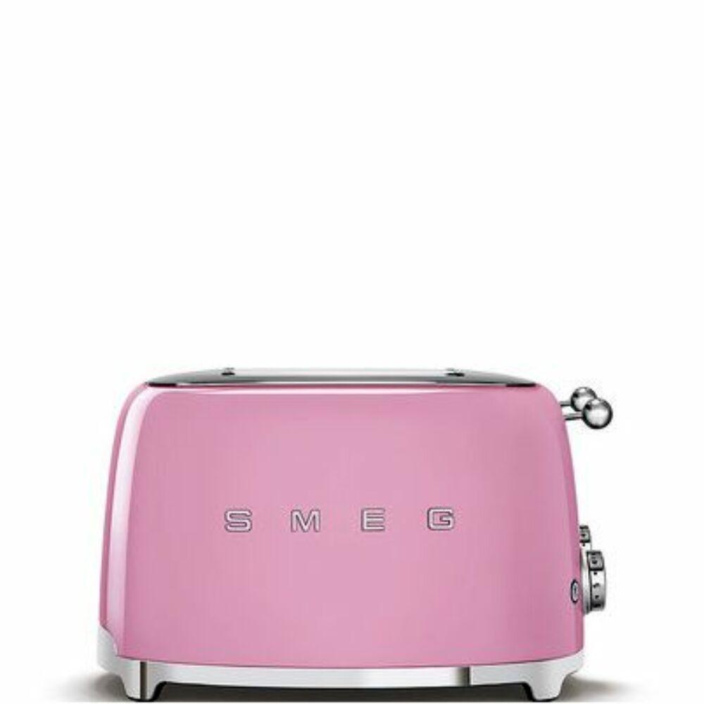 50'S style retro pasztell rózsaszín 4 x 1 szeletes kenyérpirító