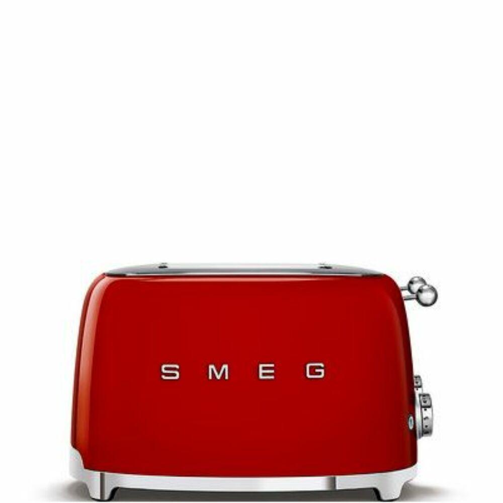 50'S style retro piros 4 x 1 szeletes kenyérpirító