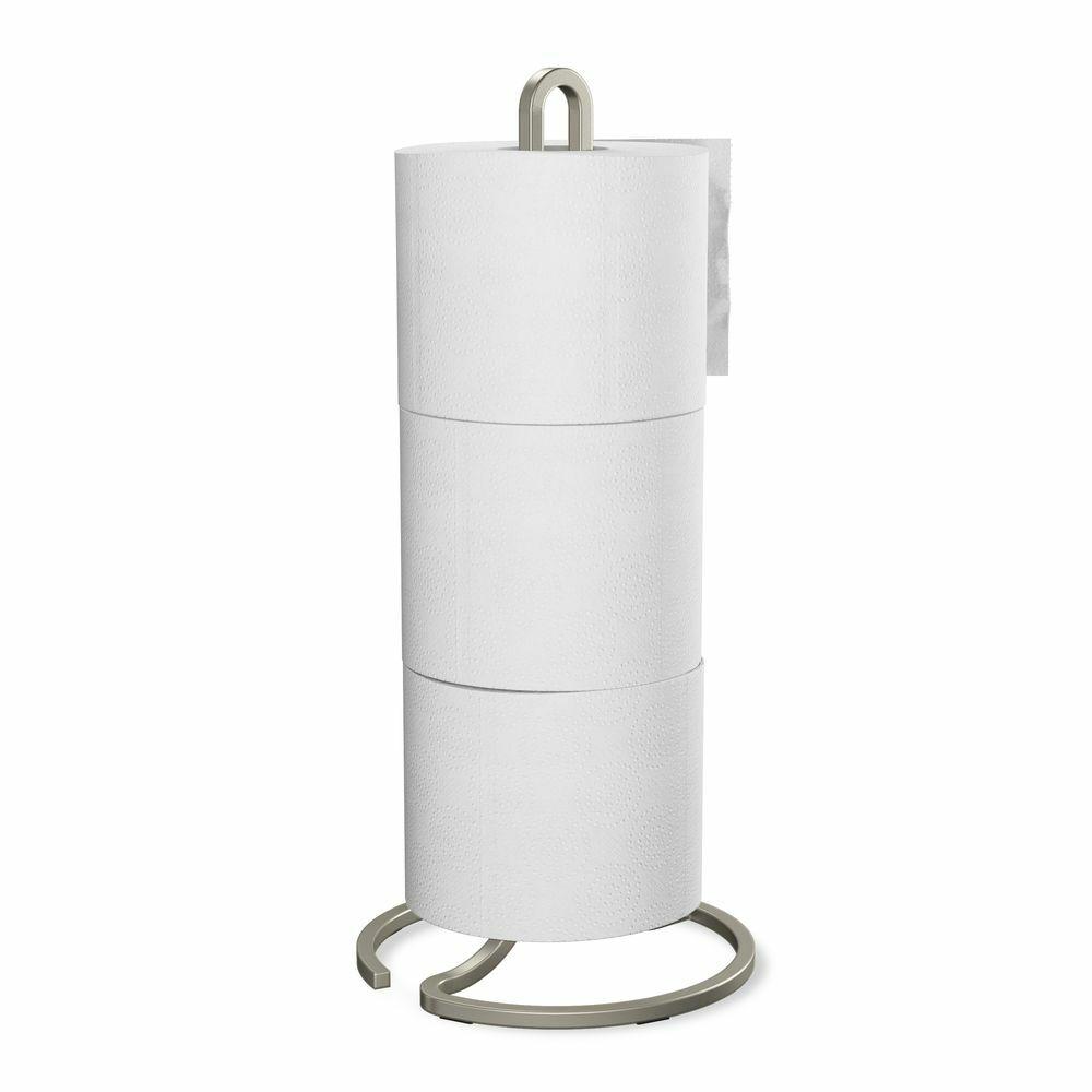 SQUIRE wc papír tartó, földön álló, 3db guriga tárolására, nikkel, vas