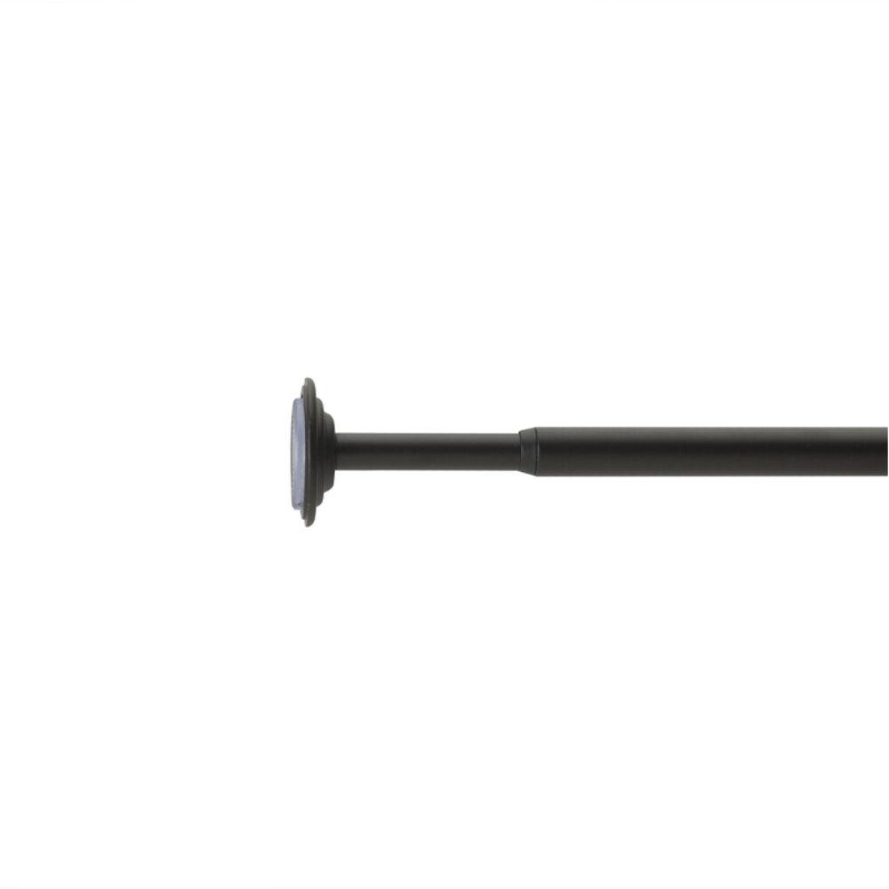 CORETTO állítható hosszúságú teleszkópos, fúrás nélküli, szimpla függönykarnis, 91-137cm, 12,7mm átmérőjű, fekete színű